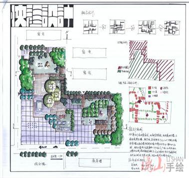 广西南宁建筑考研快题手绘培训班南宁漓山手绘培训课程